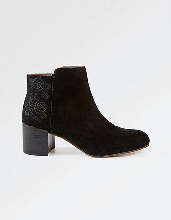 Elle Embroidered Ankle Boots
