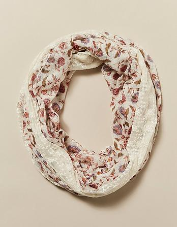 Trailing Floral Lace Snood