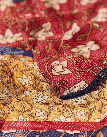 Stitchwork Floral Scarf