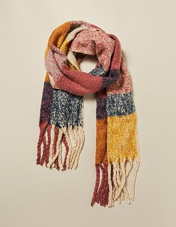 Brushed Boucle Stripe Scarf