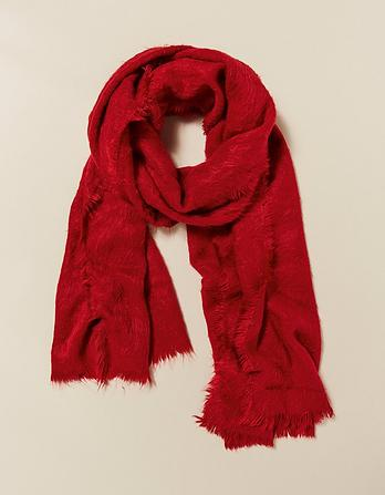 Poppy Brushed Scarf