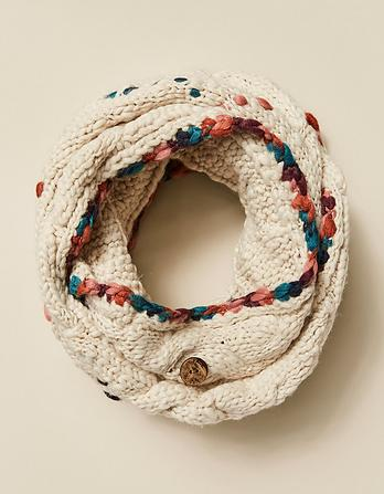 Hand Stitch Diamond Snood
