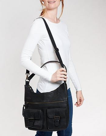 Amelia Leather Slouchy Shoulder Bag