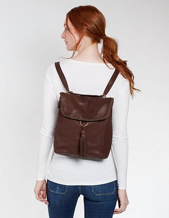 Tara Leather Multi Functional Rucksack