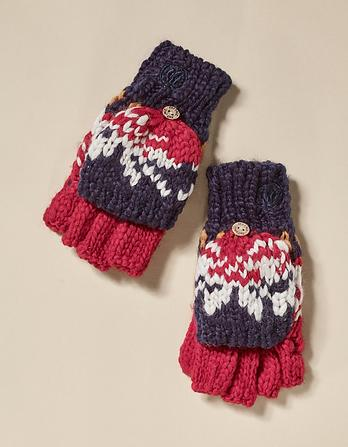 Fairisle Knit Gloves