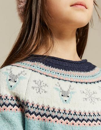 Darcy Deer Fairisle Crew Neck Sweater