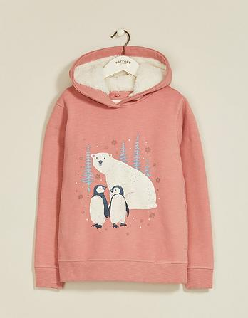 Penguin Graphic Popover Hoody