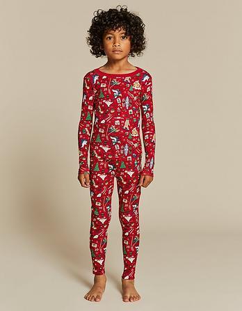 Advent Christmas Snug Pajama Set