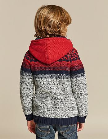 Selsey Knitted Zip Thru Hoody