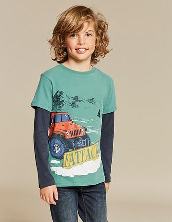 Snow Plough Graphic T-Shirt