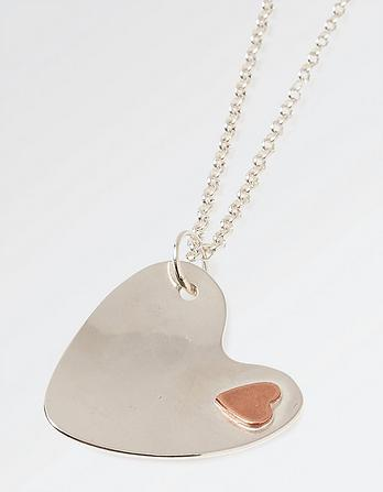 The Old Farmhouse Copper Heart Long Necklace