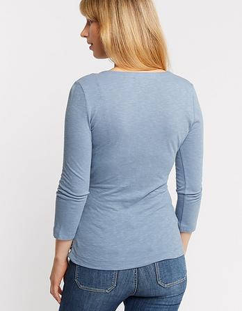 Sadie 3/4 Sleeve Wrap Top