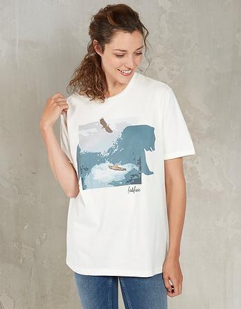 Mountain Bear Organic Cotton Graphic T-Shirt