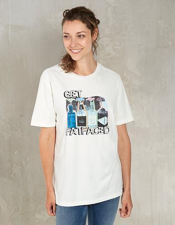 Get FatFaced Organic Cotton Graphic T-Shirt