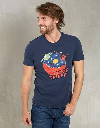 Moon Tripper Organic Cotton Graphic T-Shirt