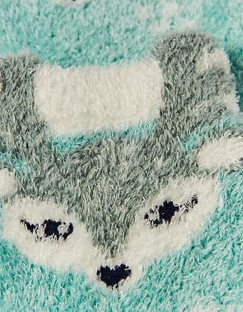 Darcy Deer Fluffy Socks