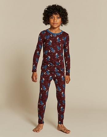 Ernest Eagle Print Snug Pajama Set