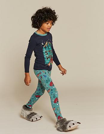 Stay Wild Print Snug Pajama Set