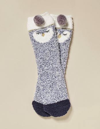 Fluffy Penguin Socks