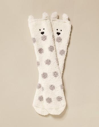Fluffy Polar Bear Socks