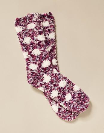 Fluffy Spot Socks