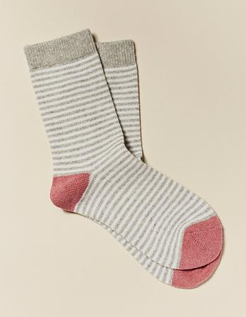 Stripe Cashmere Socks
