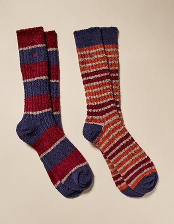 Two Pack Stripe Mallory Socks