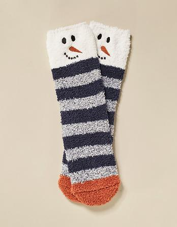 Cozy Snowman Socks