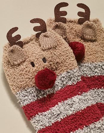Cozy Reindeer Socks