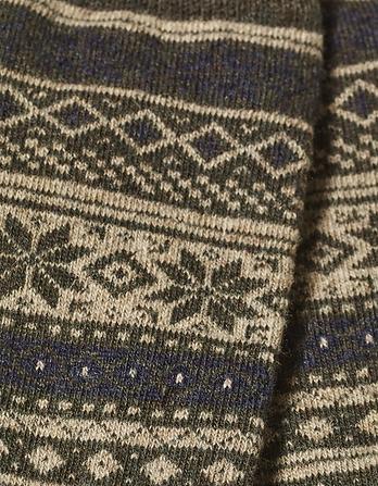 Fairisle Wool Blend Socks