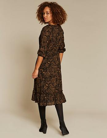 Adeline Crochet Floral Midi Dress