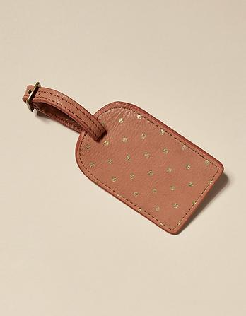Leather Spot Luggage Tag