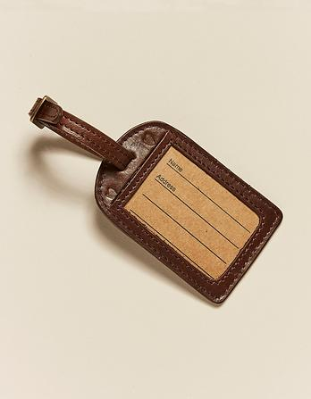 Leather Heart Luggage Tag
