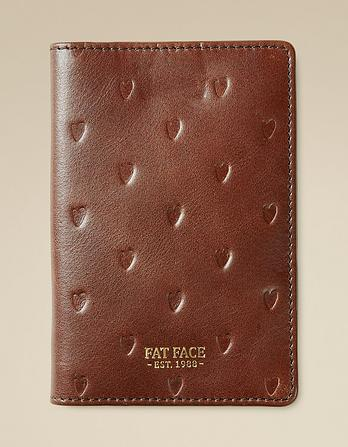 Leather Heart Passport Holder