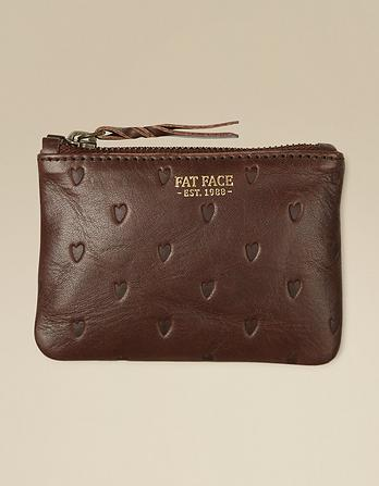 Leather Heart Mini Coin Purse