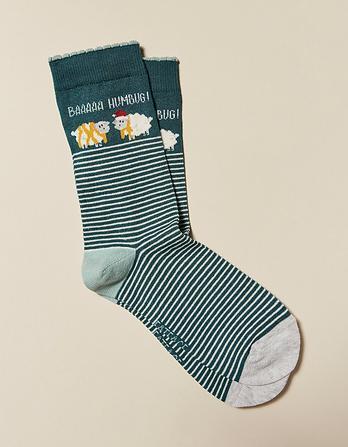 One Pack Baa Humbug Socks