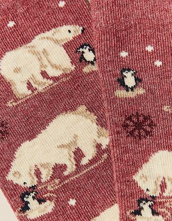 One Pack Polar Bear Socks