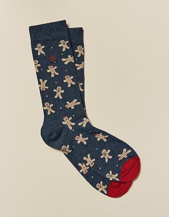 One Pack Gingerbread Socks
