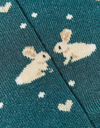 One Pack Sparkly Bunny Socks