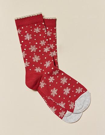 One Pack Snowflake Socks