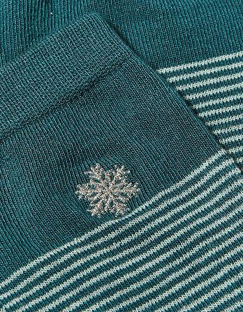 One Pack Embroidered Snowflake Socks