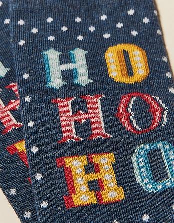 One Pack Ho Ho Ho Socks