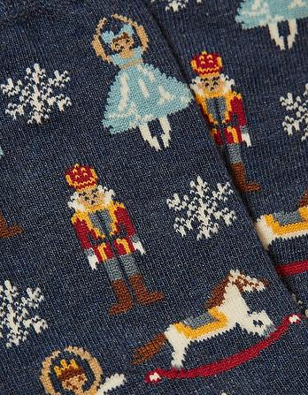 One Pack Nutcracker Socks