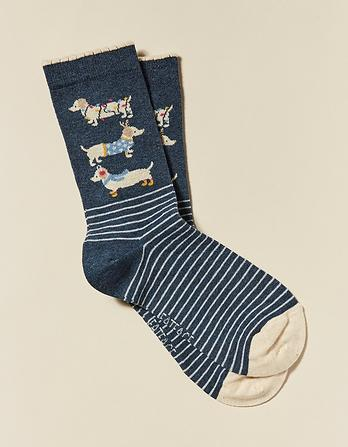 One Pack Festive Dogs Socks