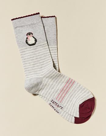 One Pack Penguin Stripe Socks