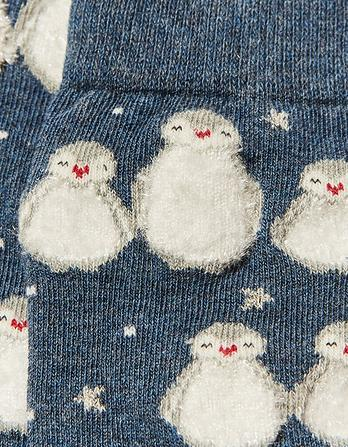 One Pack Fluffy Penguins Socks
