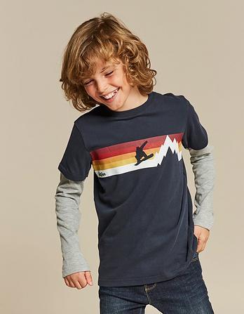 Retro Stripe Graphic T-Shirt