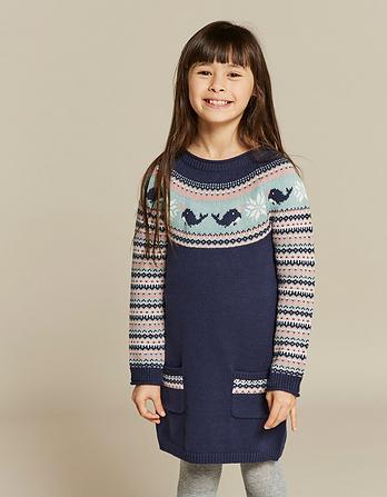 Narwhal Fairisle Knitted Dress