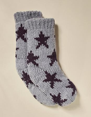 Star Knit Bed Socks