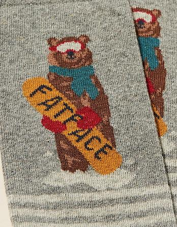 One Pack Snowboard Bear Socks